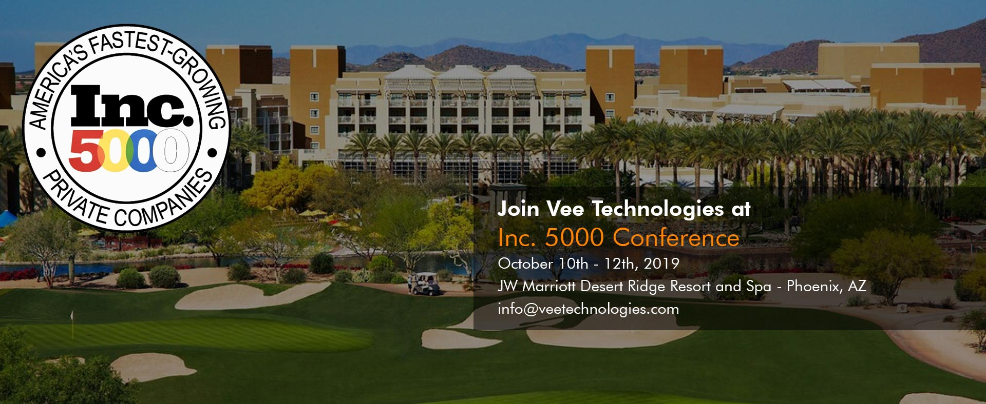 Vee Technologies Featured at the Inc. 5000 Conference